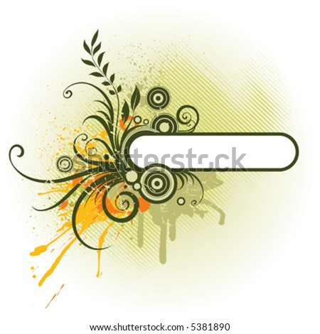 Floral panel - stock vector
