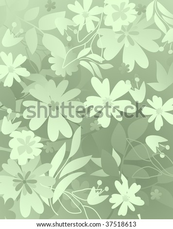 floral pattern 1 - stock vector