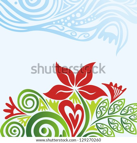 Floral pattern background vector illustration