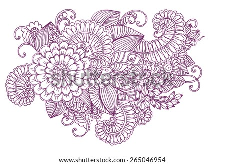 Floral pattern. Bouquet of flowers. Beautiful herbal illustration - stock vector