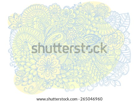 Floral pattern. Bouquet of flowers. Doodle flowers. - stock vector