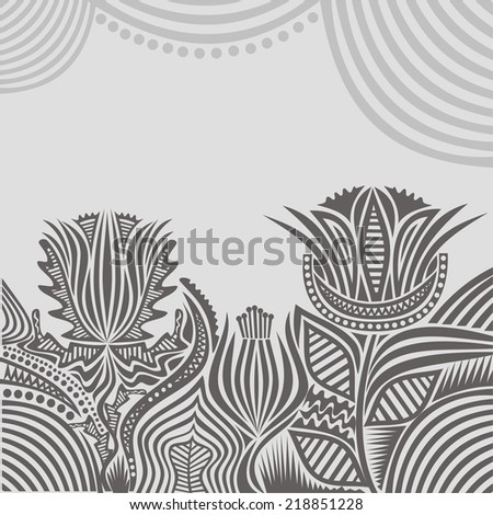 Floral pattern card vector illustration - stock vector