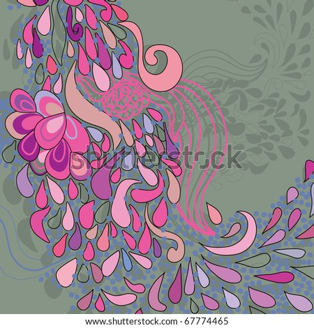 floral pattern. colorful background - stock vector