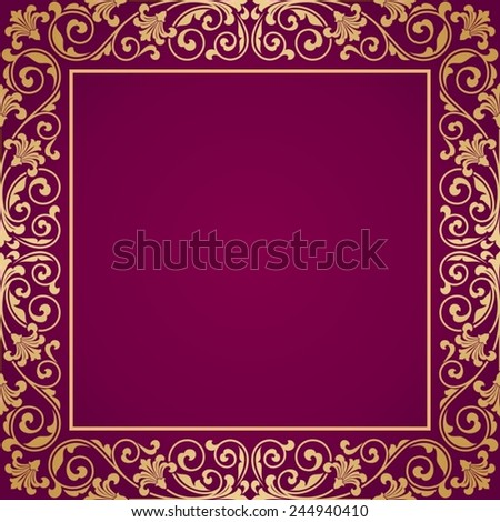 Floral pattern for invitation or greeting card. - stock vector