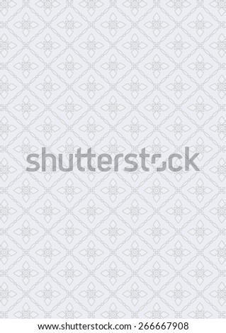 floral pattern for page and ground-paper, Thai pattern pattern - stock vector