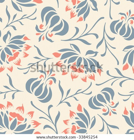 floral pattern in modern style - stock vector