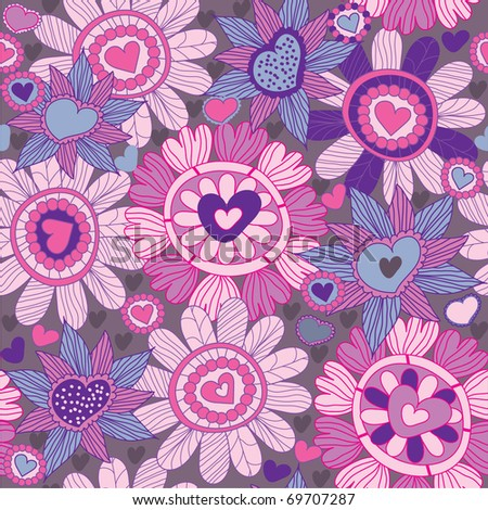 Floral pattern in vector - stock vector