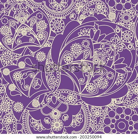 floral pattern in vintage style - stock vector