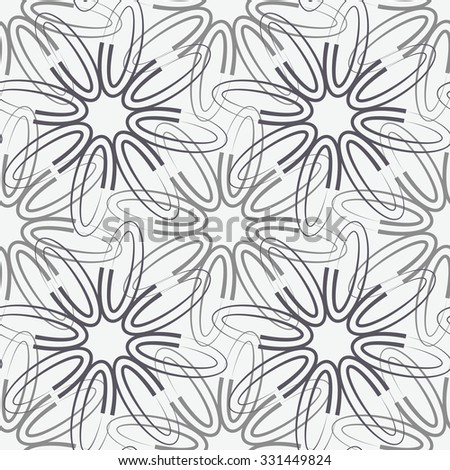 Floral pattern, mesh, seamless vector background. - stock vector