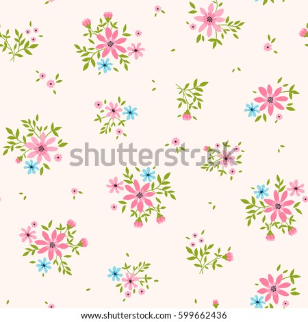 Floral pattern pretty flowers on light stock vector hd royalty free floral pattern pretty flowers on light pink background printing with small scale pink mightylinksfo