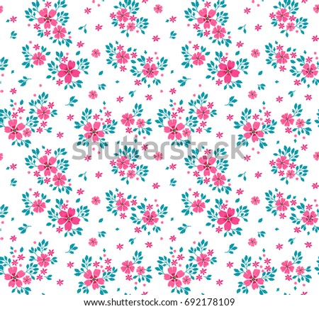 Floral pattern pretty flowers on white stock vector 692178109 floral pattern pretty flowers on white background printing with small pink flowers ditsy mightylinksfo