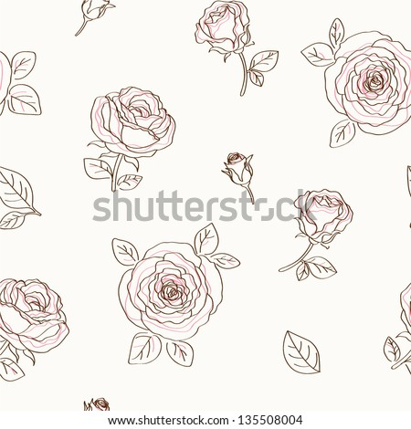 Floral pattern seamless - stock vector