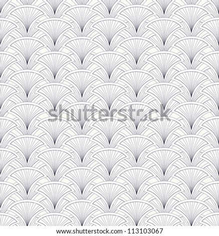 Floral pattern seamless. Abstract geometric line ornamental texture. Black and white background. Elegant wallpaper.