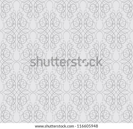 Floral pattern seamless. Flower vector motif on white background. Elegant wallpaper. - stock vector