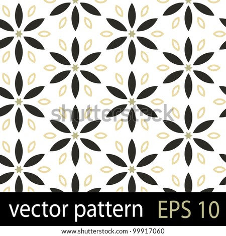 Floral pattern. Seamless vector background - stock vector