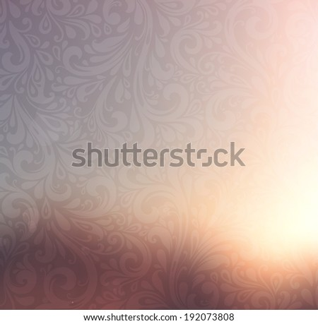 Floral Pattern, Smooth Blurred Background for Abstract Designs - stock vector