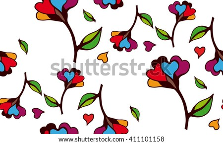 floral pattern to fit the needs of your project. - stock vector