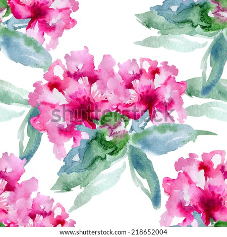 Floral pattern. Vector seamless background. Pink peonies - stock vector
