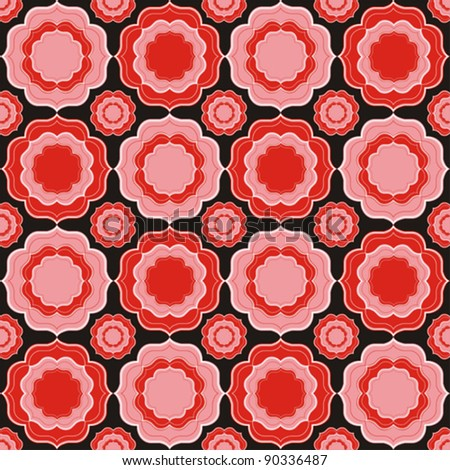 floral pattern. Vintage Vector illustration. - stock vector