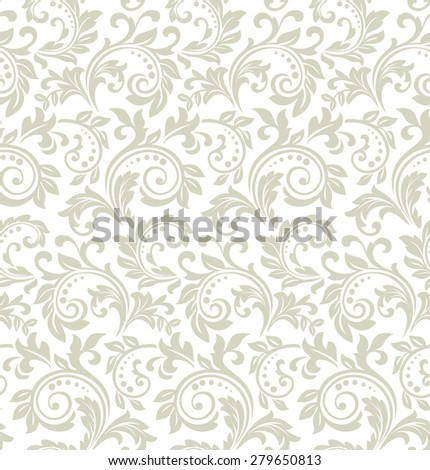 Floral pattern. Wallpaper baroque, damask. Seamless vector background