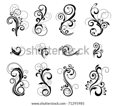 Floral patterns for design. Jpeg version also available in gallery - stock vector