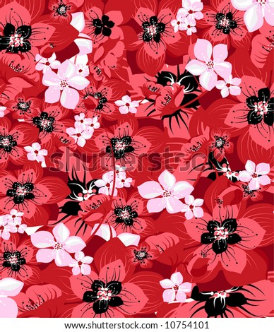 Floral poppy background