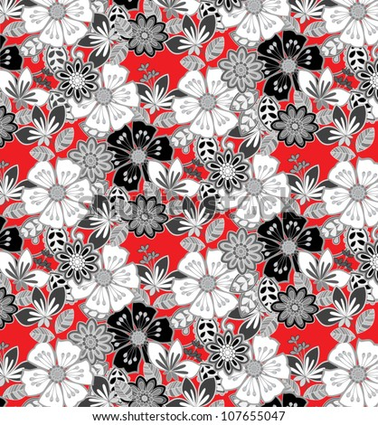 floral print suitable for informal fabric pattern