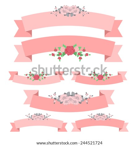 floral ribbon best for wedding and valentines day.. vector