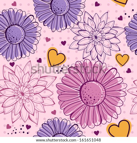 Floral seamless - stock vector