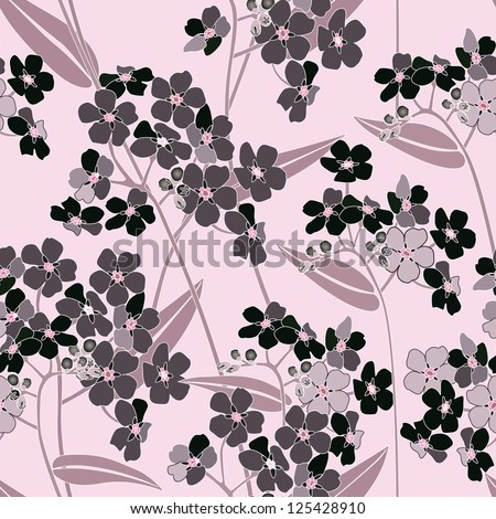 Floral seamless background. Decorative flower pattern. - stock vector
