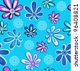 Floral seamless background.This beautiful pattern can be used for wallpaper, pattern fills, web page background, surface textures. - stock vector