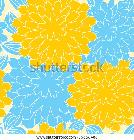 Floral seamless pattern. Bright colors, eps8