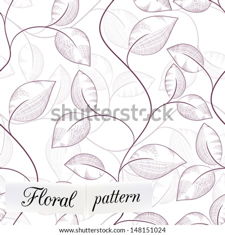 floral seamless pattern can be used for wallpaper, website background, textile printing