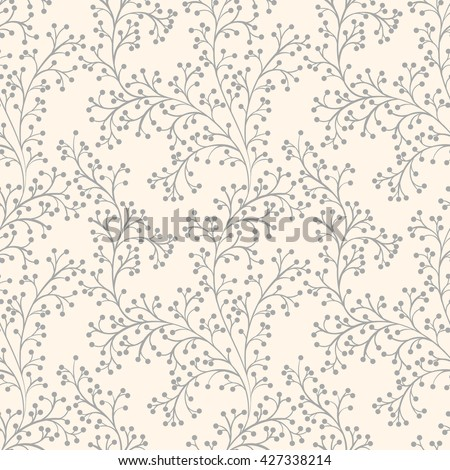 Floral seamless pattern can be used for wallpaper, website background, textile printing. Hand drawn endless vector illustration of flowers on light background. Flower theme. Summer collection. - stock vector