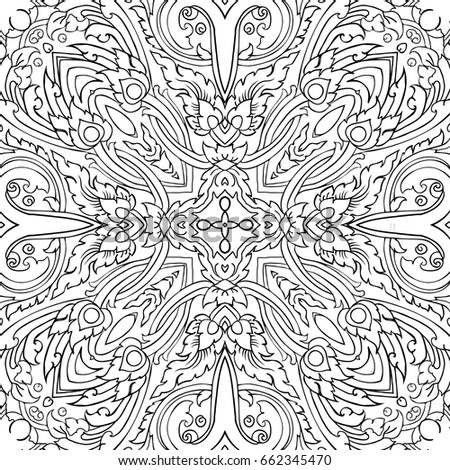 floral seamless pattern colouring book floral design stock vector illustration - Pattern Colouring Books