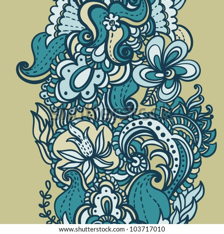 Floral seamless pattern,  endless texture with flowers in vintage style.  Wallpaper, background. - stock vector