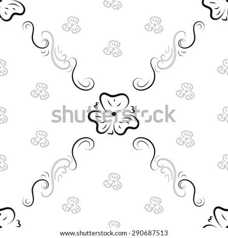 Floral seamless pattern. Fashionable retro background from ornate ornament. Graphic style with flowers for wallpaper, wrapping, fabric, background design, apparel and other print production. Vector