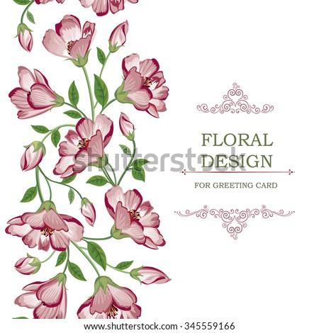 Flower Background Floral Tile Spring Texture With Flowers Ornamental Flourish Garden