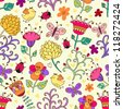 Floral seamless pattern in vector..Seamless pattern can be used for wallpaper, pattern fills, web page background,surface textures. - stock vector