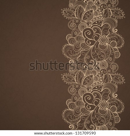 Floral seamless pattern stripe. Vector eps10 background. - stock vector