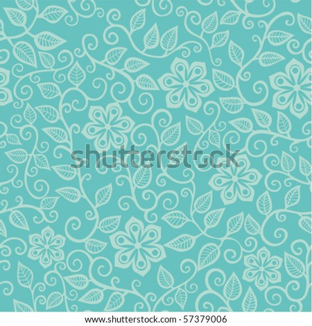 Floral seamless pattern. Texture with flowers and leaf. - stock vector