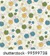 floral seamless pattern, vector design - stock vector