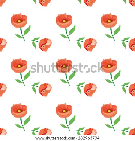 Floral seamless pattern, vector eps 8