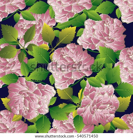 floral seamless pattern vector flowery wallpaper stock vector