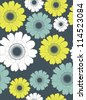 floral seamless pattern. vector illustration - stock photo