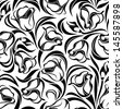 Floral seamless pattern. Vector illustration. - stock photo