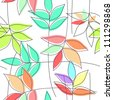 Floral seamless pattern (vector version) - stock photo