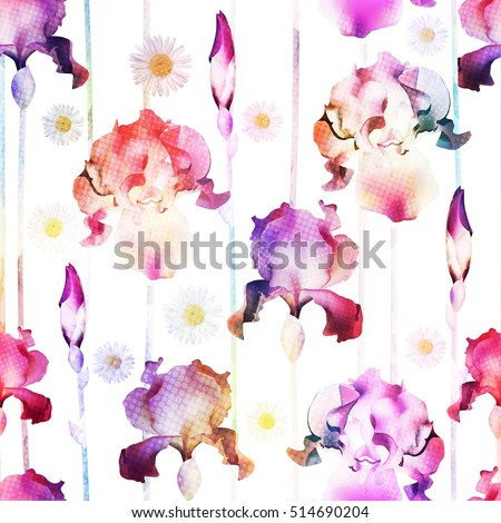 Floral seamless pattern. Vector vintage wallpaper.