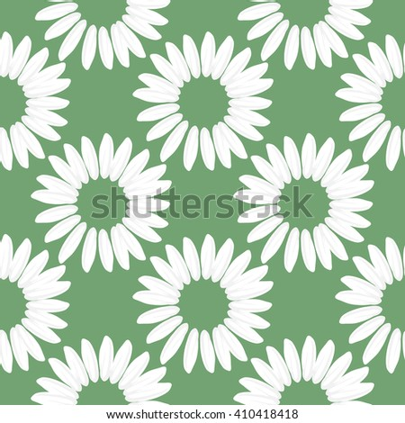 Floral seamless pattern with daisies flowers. Vector background. - stock vector