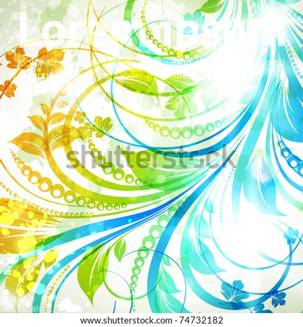 Floral spring and summer design elements. Flower abstract background for retro design. Vector. eps 10. - stock vector